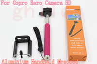 Wholesale Gopro Tripod Accessories Aluminium Handheld Monopod Go Pro Tripods Mount Adapter For Gopro Hero Camera HD Colors S UP