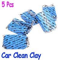 Brush Sponges, Cloths & Brushes 2 cm 5Pcs set Car Auto Magic Clean Clay Bar Detailing Wash Sludge Mud Remove Blue Auto Detailing Cleaner free shipping Wholesale