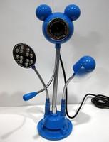 3 Mega 1024x768 Digital Wholesale - Mickey Computer Webcam 12.0 Mega USB Night Vision Webcam Camera with Microphone Fan LED Light