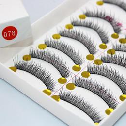 Wholesale Handmade Transparent Plastic eyelash extension glue fashion thick false eyelashes pairs women makeup accessories tw078
