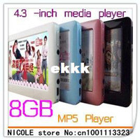 8GB Guangdong China (Mainland) Yes Wholesale-Wholesale 4GB T13 4.3 inch HD definition touch screen MP3 Mp4 Mp5 player+TV out+Game+Video+FM radio+free shipping