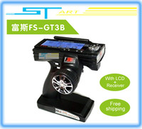 Wholesale Flysky fs gt3b FS GT3B Ghz ch RC System Gun remote control transmitter and receiver For RC Car Boat