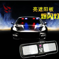 8W emergency strobe lights - New Genuine Emergency Super Led Visor Strobe lights ways flashing kinds led warning lightbar Red Blue