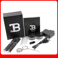 Black   hotsale Micro B Flat Pen Electronic Cigarette Kits Micro B Wax Vaporizer Pen for Dry Herb or Cut Tobacco with Gift Box Mulit-Colors