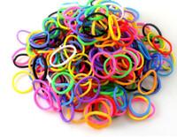 3-4 Years children charm bracelet - Hot Sell packs Fun DIY Silicone Rubber Charm Kit Bracelet Loom Bands Refill Hook Bracelets amp Bangles For Children