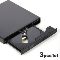 Wholesale 3pcs USB External DVD Combo CD RW Burner Drive CD RW DVD ROM USB Can Write CD RW amp Read DVD ROM Newest