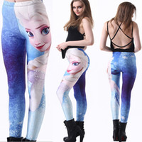 Wholesale 2014 Frozen D Digital Print Galaxy Womens Ladies Tights Leggings Skinny Pants Slim Thin Trousers Feet New Arrival Autumn Clothing