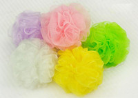 Wholesale Bathe Bath Brushes Sponges Scrubbers Colorful Soft and Comfortable Bathroom Ball Body Wash FG01002