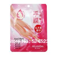 Wholesale 2pair Women Rolanjona Shea Butter Hand Mask Smoothing Whitening Moisturizing Hand Gloves Mask Skin Care