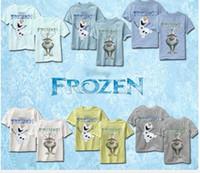 Unisex Summer Standard Hot ! 2014 Summer Children Boys Cute Cartoon Frozen T-Shirts Olaf Tops Pure Cotton Short Sleeve Painting Boy's T Shirt Top Tees I1481