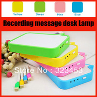 Wholesale USB Rechargeable table lamp Recording Message Desk Lamp Handwritten Board Emergency night Light yellow red green