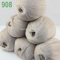 Yarn   Lot 6 Skeins LACE Soft Acrylic Wool 5% Cashmere Yarn Knitting Biege 908