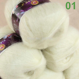 Wholesale Sale balls MOHAIR Angora goats Cashmere silk hand Yarn Knitting White