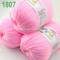 Yarn   Sale Lot 3 balls x 50g Cashmere Silk velvet Children Yarn Pink Ice 1807