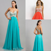 Reference Images One-Shoulder Chiffon Dicount,One Shoulder Beaded Stone Crystal Bodice Aqua Chiffon Prom Dresses 2014 Cheap Open Back Light Blue Teal Evening Gown