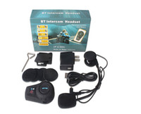 Wholesale 500m Waterproof Motor Helmet Bluetooth Headset kits with DHL shipping