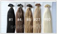 Wholesale 6A Grade peruvian Human Virgin Remy Hair B Flat Tip Hair Extension Hot Queen Pre bonded Hair g quot quot No Shedding