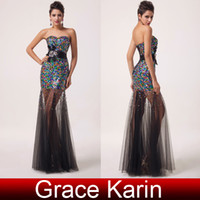 Sweetheart sexy ball gowns - Grace Karin HOT Sexy Long Beaded Strapless Sequins Tulle Ball Evening Gown Formal Party Prom Dresses CL6026
