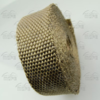 Catalytic Converter Vulcan Lava Fiber 20 cm High Performance Titanium Lava Exhaust wrap With Stainless Steel