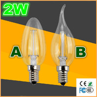 Wholesale Newest Edison Type candle light Filament LED Chandelier Lamp bulb Incandescent light lM W V E14 E27 warm white