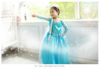 TuTu Summer A-Line Frozen Elsa Anna Girl's Costume dresses tulle Long sleeve baby girl dress princess girls party dress