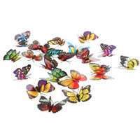 Clip  artificial butterfly decorations - 20pcs cm D Artificial Butterfly Pin Clip Double Wing for Home Christmas Wedding Decoration H9936