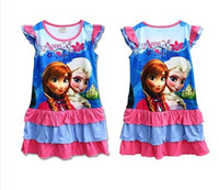 Newest Frozen Dress Elsa & Anna Summer Dress For Girl Pr...