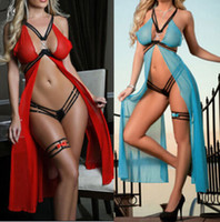 women sexy dresses - 2014 Womens Sexy Lingerie Babydoll Dress Underwear Sleepwear Dress G string QWB01