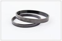 Pure black titanium steel bracelet ith star, titanium steel ...