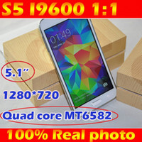 Wholesale perfect S5 I9600 G900 phone Android inch PS MTK6582 Quad Core GB RAM GB GB ROM WCDMA G Gps Smartphone