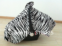 Wholesale New arrival car seat canopy infant car seat canopy cover boys girls collection zebra