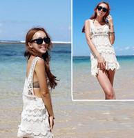 Wholesale New Celebrity Style Womens Vintage Floral Boho Crochet Sexy Lace Bikini Swimwear Cover Up Beach Dress