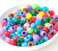 Unisex 8-11 Years Multicolor Foreign trade explosive device rainbow rainbow loom loom candy color beads small round bead bracelet 100pcs one bag