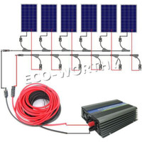 Wholesale USA style W COMPLETE KIT W WATT PV poly Solar cell Panel V on grid solar system