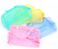 Bag bath cosmetics - Cheap Price Travel transparent Clear Waterproof Cosmetic Bag Wash Bag Wash Bath Toiletries Pouch Wallet Large Capacity Storage Bag Free Ship