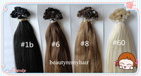 Indian Hair #1b#2#4#6#8#27#60  Straight Beautiful Flat-tip Hair Extensions 100% Virgin Indian Remy Human Hair Extensions 18''--28'' 1g s 100g pc DHL Free Shipping