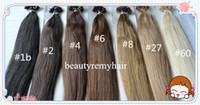 Brazilian Hair #1b#2#4#6#8#27#60  Straight Top Quality Flat-tip Hair Extensions 100% Vgirgin Brazilian Remy Human Hair Extensions 18''--28'' In Stock 3pcs lot free shipping by DHL