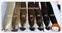 Brazilian Hair #1b#2#4#6#8#27#60  Straight Popular Flat-tip Hair Extensions 100% Vgirgin Brazilian Remy Human Hair Extensions 18''--28'' 3pcs lot free shipping by DHL
