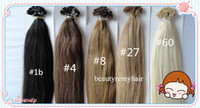 Indian Hair #1b#2#4#6#8#27#60  Straight Popular Flat-tip Hair Extensions 100% Virgin IndianRemy Human Hair Extensions 18''--28'' 1g s 100g pc DHL Free Shipping