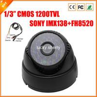 Nuevo 1/3quot; CMOS 1200TVL SONY CMOS IMX138 Sensor Plásticas de la Casa de Infrarrojos Interior de la Cúpula de la Cámara de Seguridad CCTV con Menú OSD