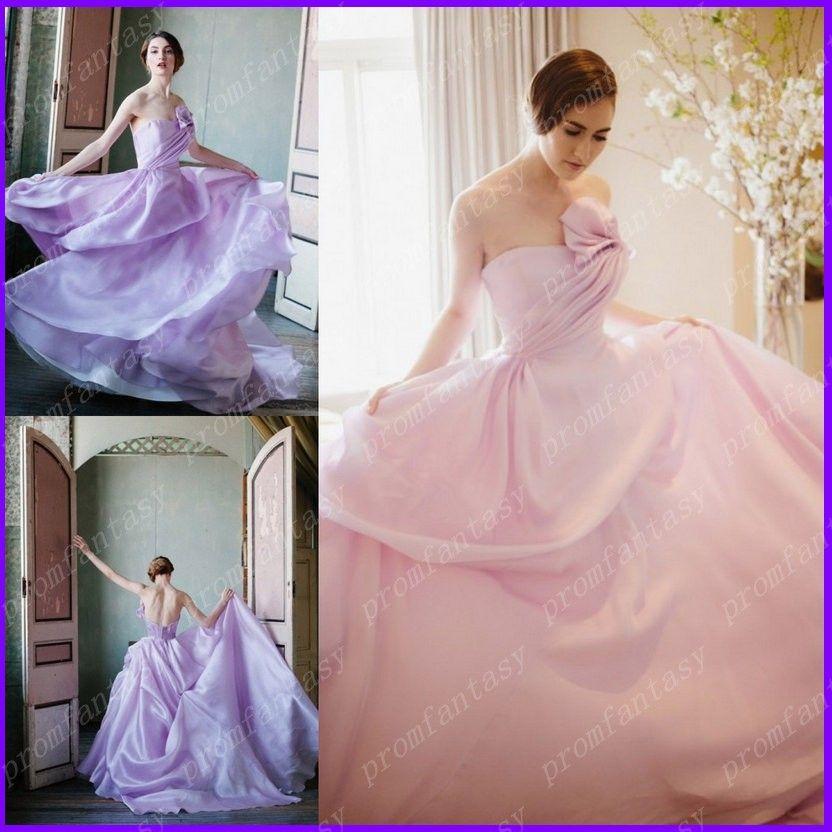 Pink Color Wedding Dresses 2016 Summer Fall 2017 New Romantic ...