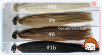 Indian Hair #1b#2#4#6#8#27#60  Straight 2014 Best Seller !!! Flat-tip Hair Extensions 100% Virgin Indian Remy Human Hair Extensions 18''--28'' 1g s 100g pc DHL Free Shipping