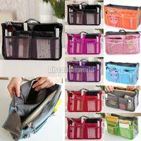 Nylon purse organizer - Women Lady Cosmatic Organizer Organiser Travel Bag Purse Handbag Insert Liner Large Tidy Bx84