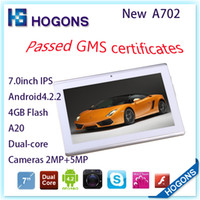 Wholesale Cheap Android OS inch A23 Dual Tablet PC Wifi Dual Cameras The First Model with GMS Certificate GB Flash