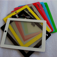 Wholesale for Ipad amp Ipad Color Touch Screen Panel Glass Digitizer with Adhesive Glue Sticker Free DHL