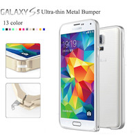 For Samsung   S5 thin Metal Phone Frame Bumper Case Hard Cover 0.7mm aluminum For Samsung Galaxy S5 I9600 9600 dhl fedex 100pcs