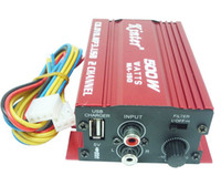 Wholesale MA car motorcycle power amplifier RMS Wx2CH V CD DVD MP3 USB computer small charge amplifier RCA inputs and outputs