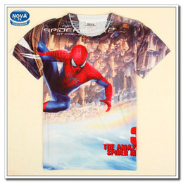 Wholesale Baby Boy Cartoon T shirt Fashion Movie Spider Man Printing Short Sleeves T shirt Kids Summer Clothing New Children Clothes C5151D