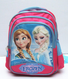 Wholesale 2014 Hot sale Children new frozen school bag fashion girls cartoon frozen backpack children Shoulders bags school bag