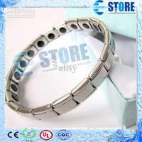 big germanium - Quantum Energy Titanium Bracelet with Big Germanium Rolling Stones Magnetic Health Jewelry wu